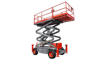 50 ft. rough terrain scissor lift rental in Los Angeles