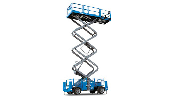 33 Ft. 4x4 med terrain scissor lift rental in San Diego